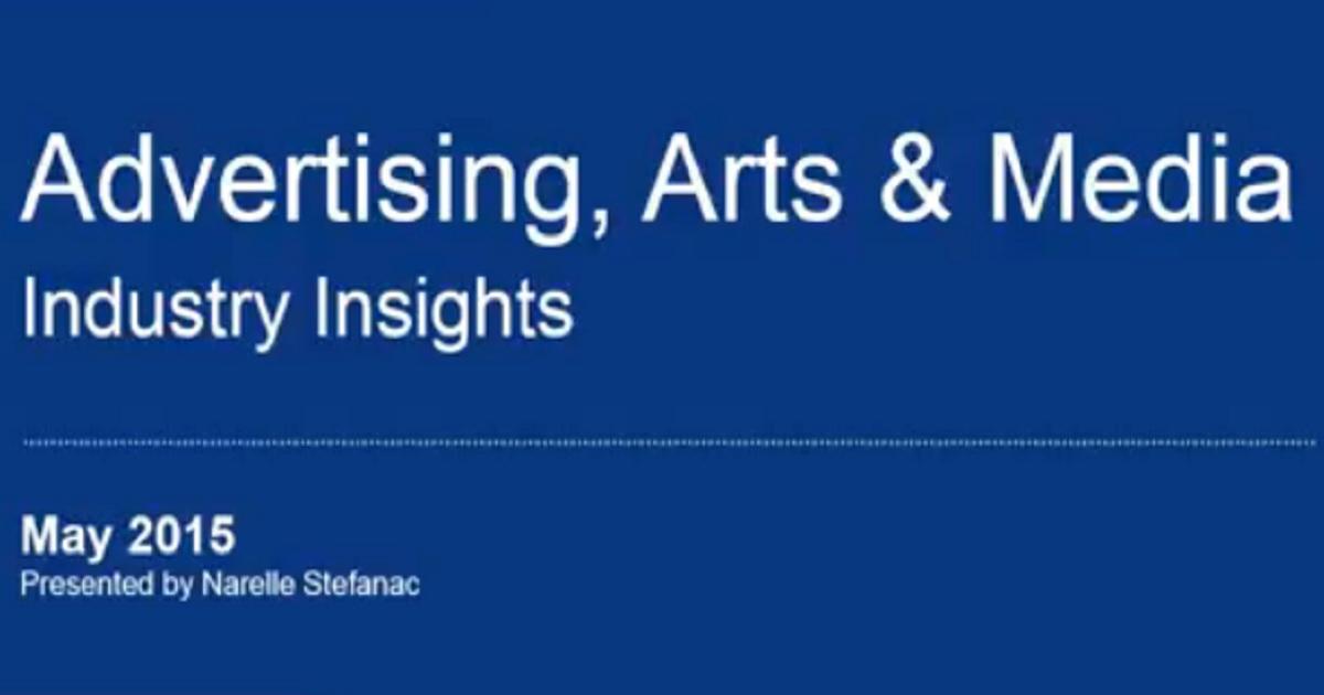 SEEK webinar playback: Industry insights – Advertising, Arts & Media (NZ) – May 2015
