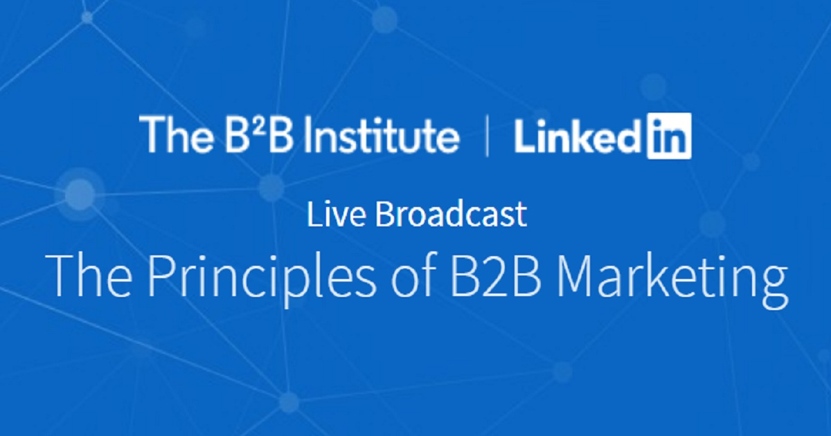 The principles of B2B marketing