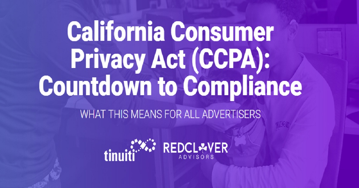 California Consumer Privacy Act (CCPA): Countdown to Compliance