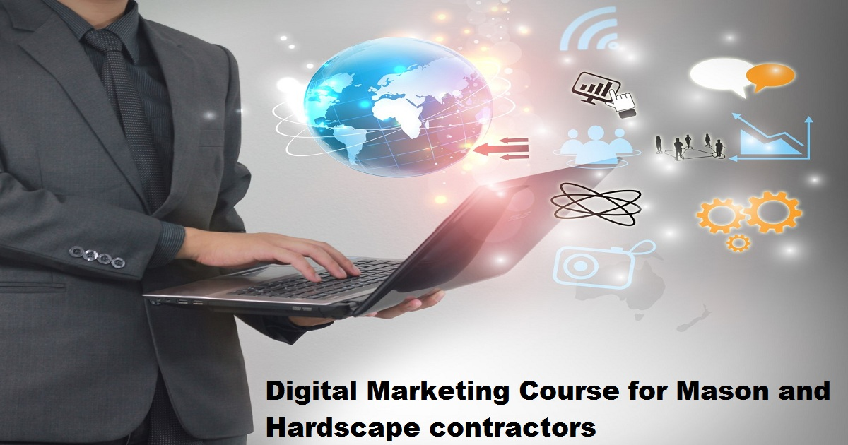digital marketing course for Mason and hardscape contractors