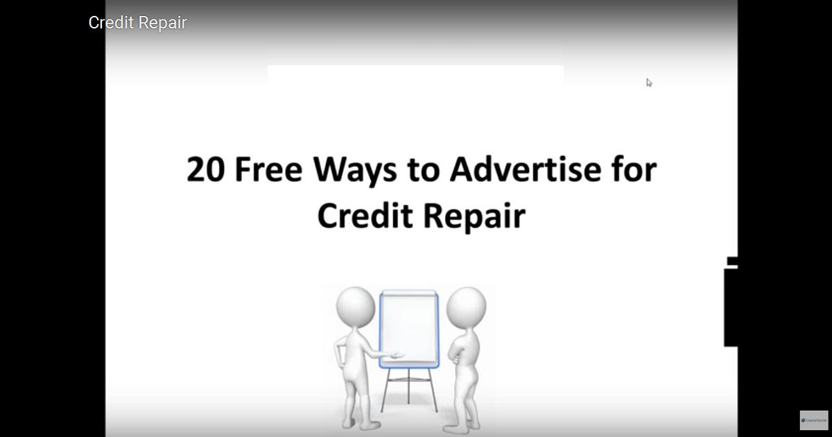 Advertise Credit Repair
