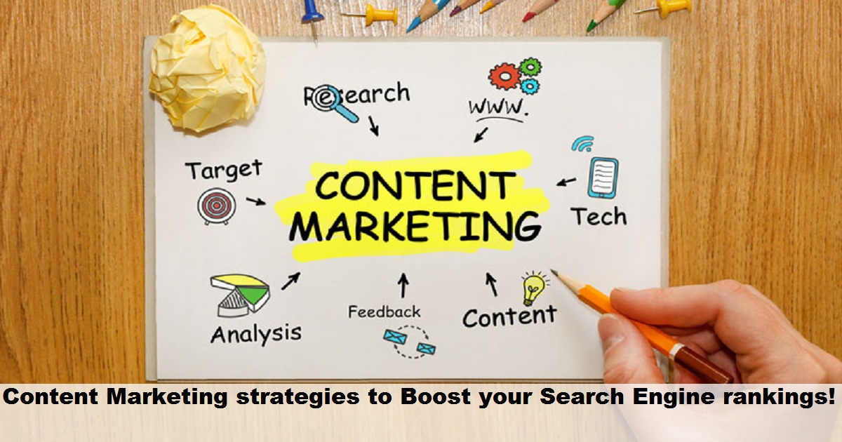 Content Marketing Strategies to Boost your Search Engine rankings!