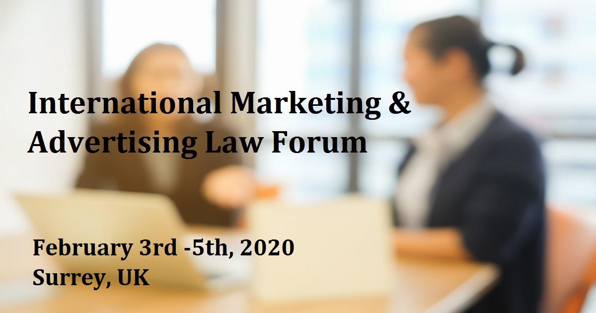 International Marketing & Advertising Law Forum