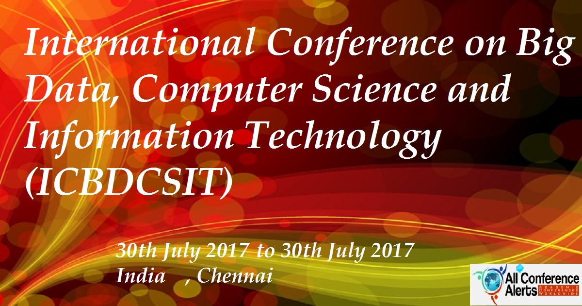 International Conference On Big Data, Computer Science And