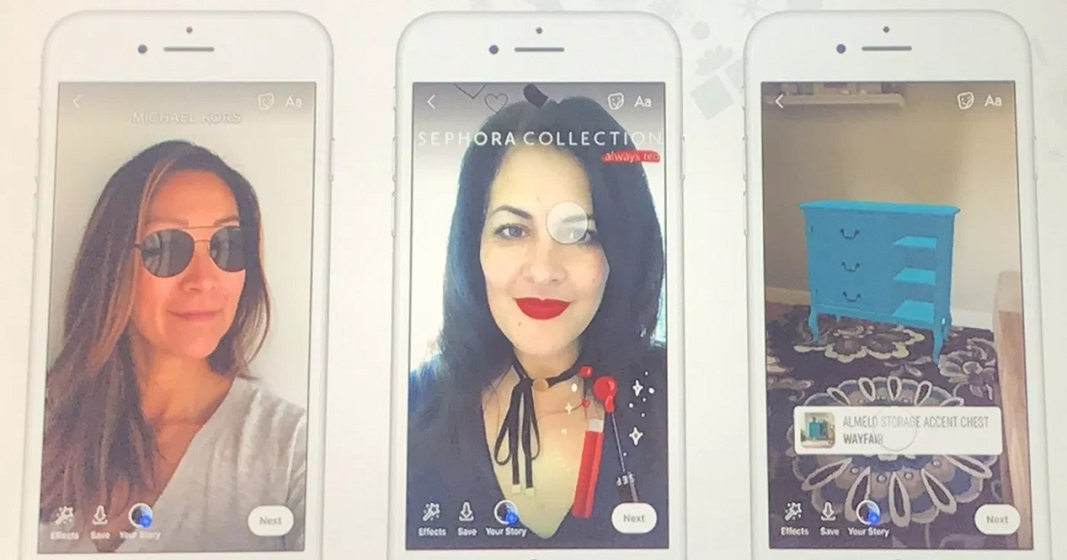 Facebook brings augmented reality ads to the news feed, expands shopping in Instagram Stories