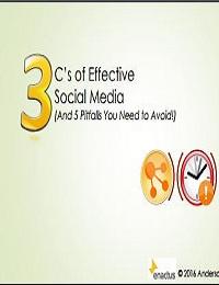 3C'S OF EFFECTIVE SOCIAL MEDIA