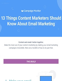 13 THINGS CONTENT MARKETERS SHOULD KNOW ABOUT EMAIL MARKETING